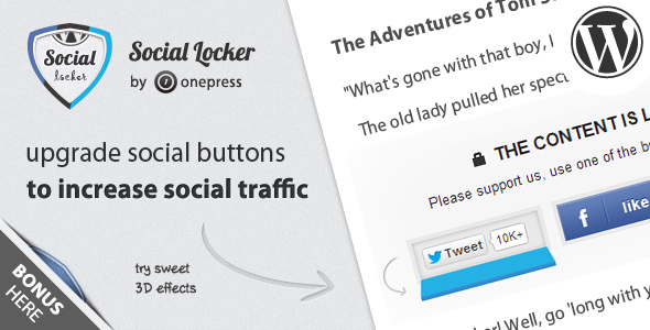 Social Locker Plugin-Discount Coupon Code