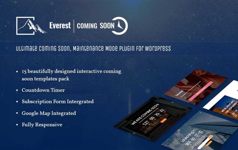 Everest Coming Soon Plugin - Introductory Plugin